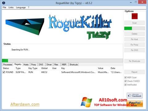 截圖 RogueKiller Windows 10