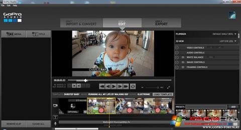 截圖 GoPro Studio Windows 10