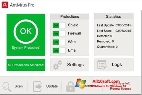 截圖 Avira Antivirus Pro Windows 10
