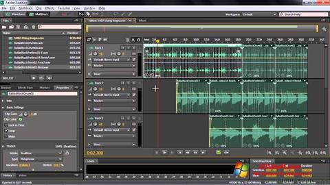 截圖 Adobe Audition CC Windows 10