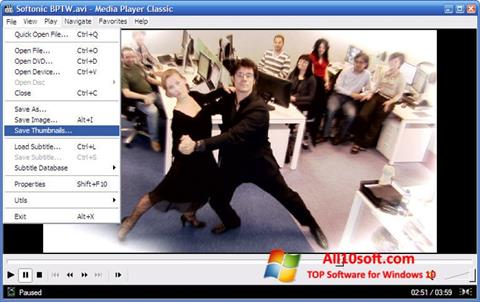 截圖 Media Player Classic Windows 10