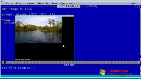 截圖 QBasic Windows 10
