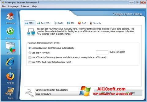 截圖 Ashampoo Internet Accelerator Windows 10