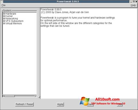 截圖 PowerTweak Windows 10
