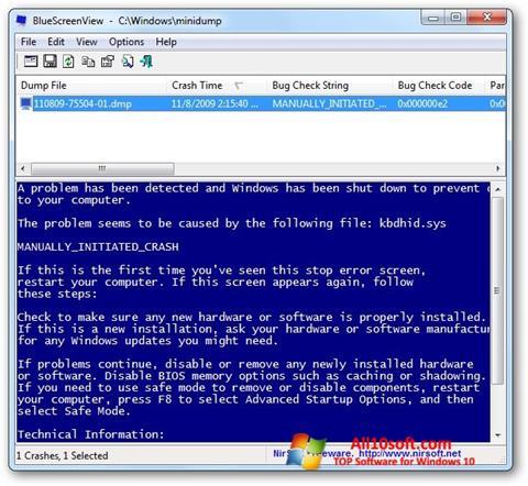 截圖 BlueScreenView Windows 10