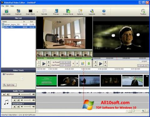 截圖 VideoPad Video Editor Windows 10