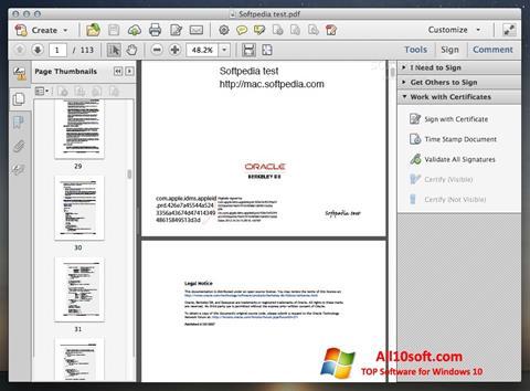 截圖 Adobe Acrobat Windows 10