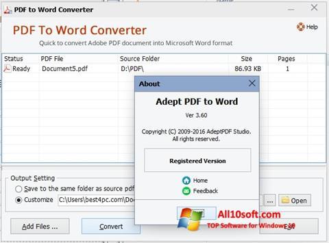 截圖 PDF to Word Converter Windows 10
