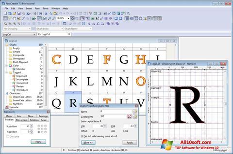 截圖 Font Creator Windows 10