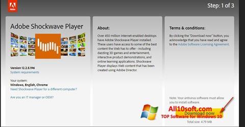 截圖 Adobe Shockwave Player Windows 10