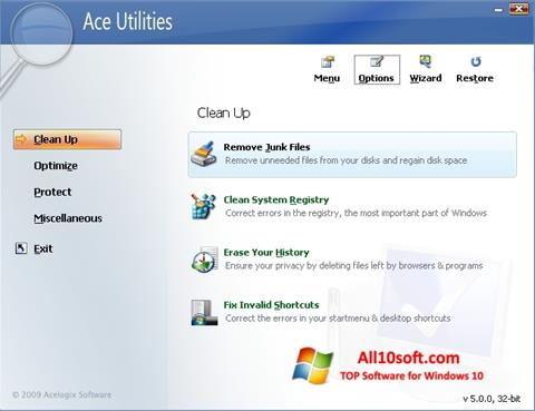截圖 Ace Utilities Windows 10