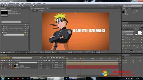 截圖 Adobe After Effects Windows 10