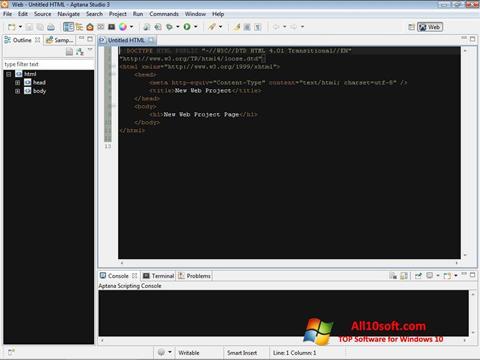 截圖 Aptana Studio Windows 10