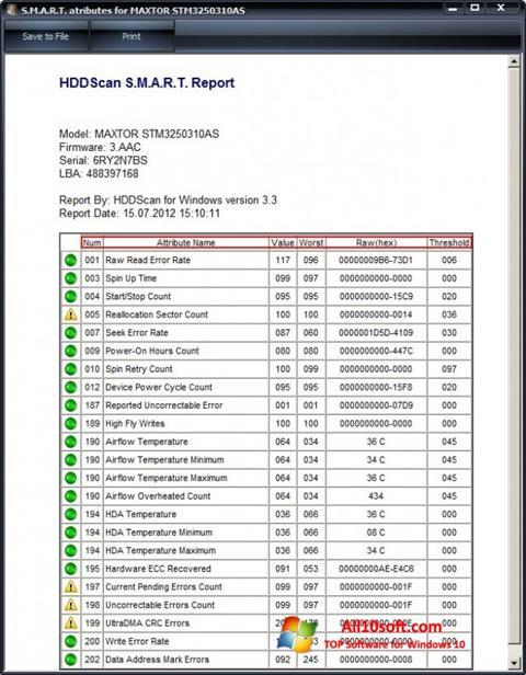 截圖 HDDScan Windows 10