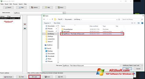 截圖 ArtMoney Windows 10