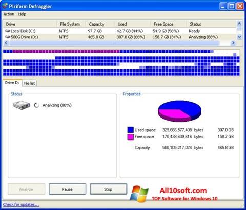 截圖 Defraggler Windows 10