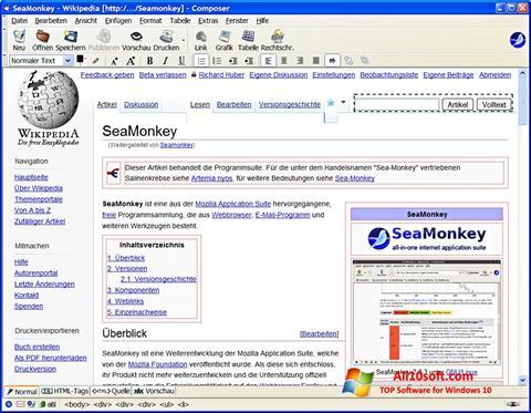 截圖 SeaMonkey Windows 10