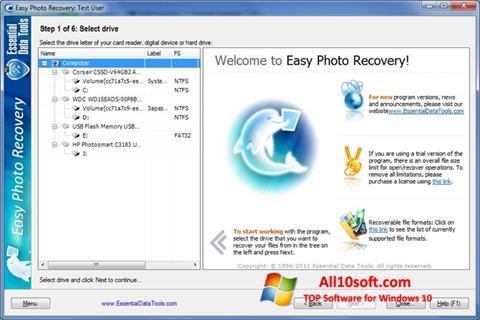 截圖 Easy Photo Recovery Windows 10