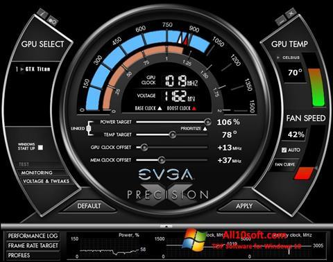 截圖 EVGA Precision X Windows 10