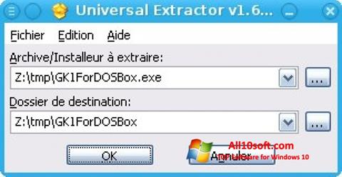 截圖 Universal Extractor Windows 10