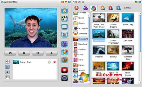 截圖 WebcamMax Windows 10