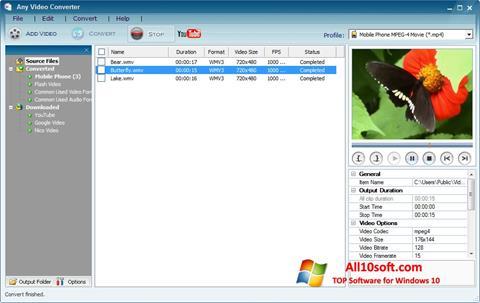 截圖 Any Video Converter Windows 10