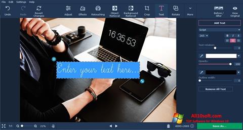 截圖 Movavi Photo Editor Windows 10