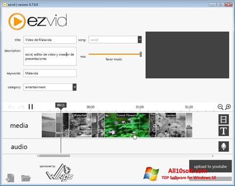 截圖 Ezvid Windows 10