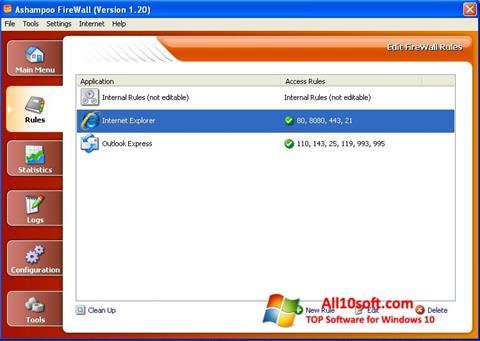 截圖 Ashampoo Firewall Windows 10