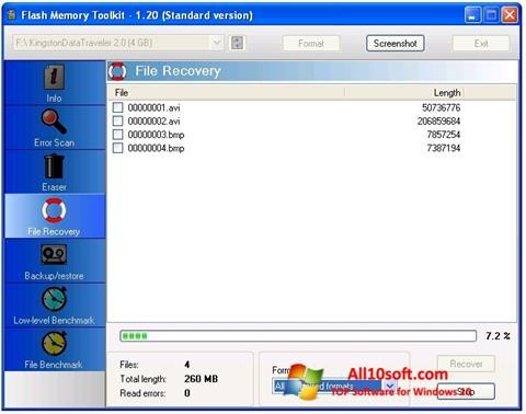 截圖 Flash Memory Toolkit Windows 10