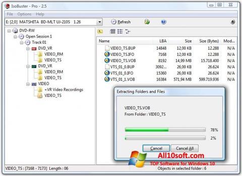 截圖 IsoBuster Windows 10