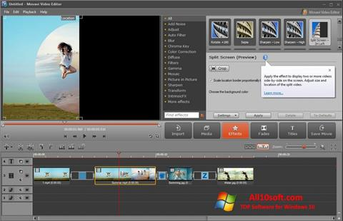 截圖 Movavi Video Editor Windows 10