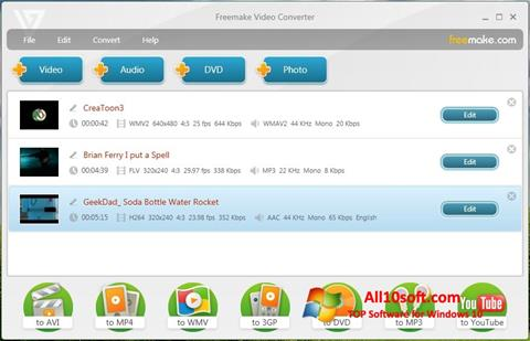 截圖 Freemake Video Converter Windows 10