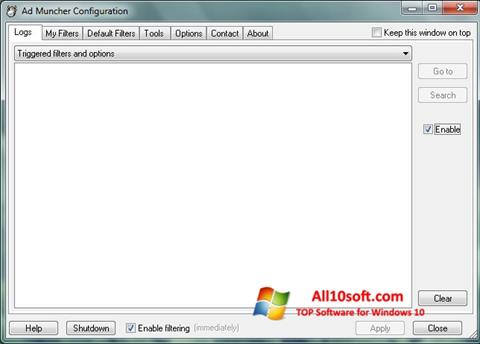 截圖 Ad Muncher Windows 10