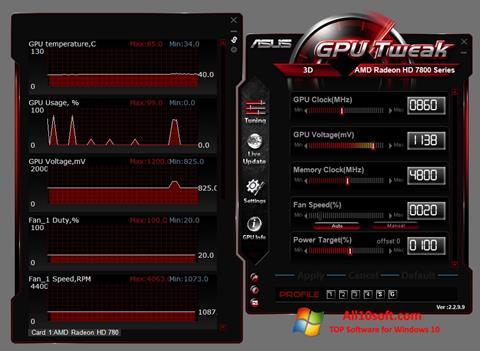 截圖 ASUS GPU Tweak Windows 10