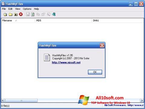 截圖 HashMyFiles Windows 10