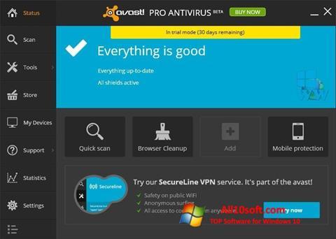 截圖 Avast! Pro Antivirus Windows 10